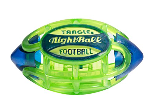 Tangle NightBall Glow in the Dark Light Up LED Football, Green with -
