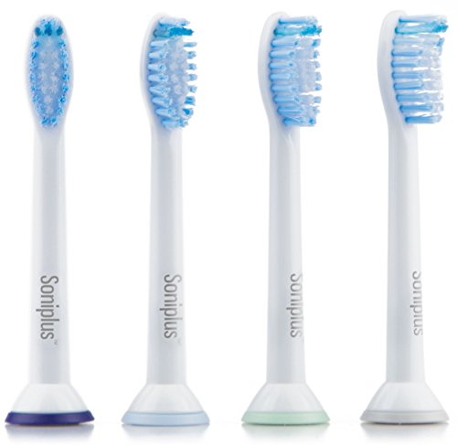 Soniplus Standard Sensitive Replacement Toothbrush Heads for Philips Sonicare HX6053/6054, 4 Pack
