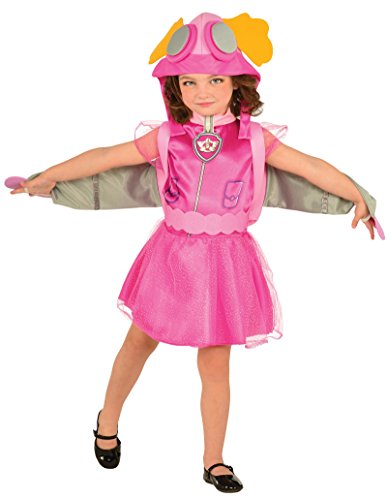 Old Movie Character Costumes (Rubie's Costume Toddler PAW Patrol Skye Child Costume, One Color, Small)