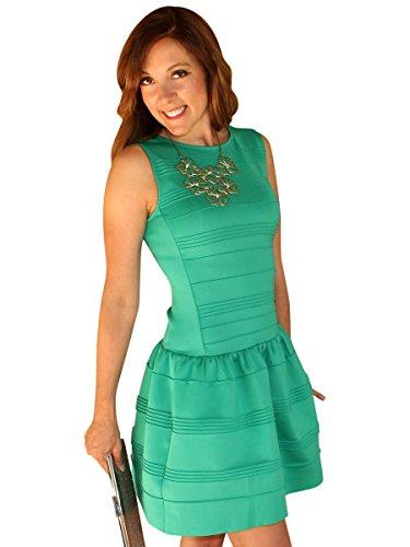 Social Butterfly House Women's Drop Waist 'Maddie' Dress Medium (Garden Drop Waist Dress)