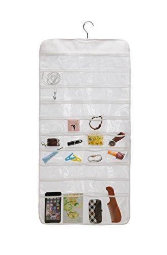 ZKF Closet Canvas Ultra 80 Pocket Hanging Jewelry Organizer (80) by ZKF