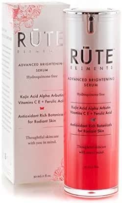 RUTE ELEMENTS Dark Spot Corrector Remover For Face | Premium Melasma & Hyperpigmentation Treatment Kojic Acid, Arbutin, Vitamin C, Ferulic Acid, Retinol - HQ FREE Anti Aging Skin Brightening Serum
