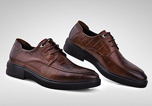 Happyshop (tm) Heren Koe Lederen Casual Veterschoen Schoenen Comfort Instappertje Loafers Zakelijke Damesschoenen Bruin
