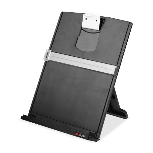 3M Desktop Paper Document Copy Holder, 150 Sheet Capacity (DH340MB) Size: Glossy Exclusive Paper, Model: DH340MB, Office/School Supply Store