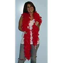 6' Red Turkey Feather Boa