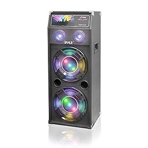 PYLE PSUFM1240P 1400-Watt Dual Passive DJ Speaker System with Flashing DJ Lights