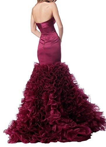 La Braut mia Hochwertig Festlichkleider Meerjungfrau Tuerkis Rueschen Ballkleider mit Satin Abendkleider Promkleider ddrgEx5qw