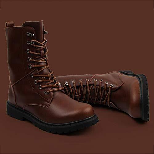 Ginnastica Pelle Uomo High Brown Antiscivolo Top Scarpe Leggero Uomo in Stivali da E Impermeabile da Autunno Dewalt Sicurezza di Scarpe Stivali Inverno xHq8n6wABp