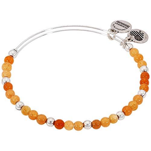 (Alex and Ani Color Classics, Marigold/Rafaelian Silver Bangle Bracelet)