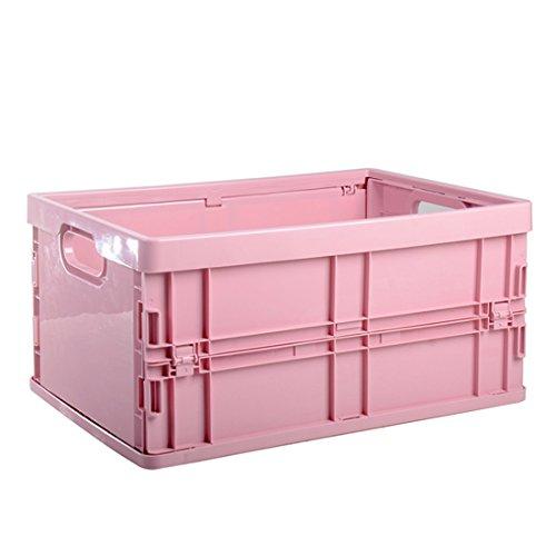 ravpump plegable de plástico caja de almacenamiento Thickened Home Sundries Organizer ropa contenedor, Rosado