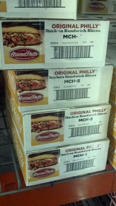 Original Philly: Chicken Sandwich Slices 10 Lb. by philly original