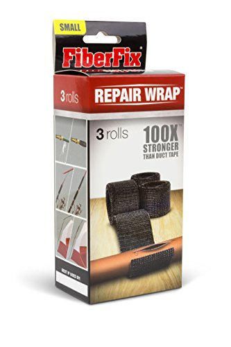 FiberFix 1 Inch Repair Wrap (Pack of 3 Rolls) - Fix Anything with Permanent Waterproof Repair Tape 100x Stronger than Duct (Fiber Fix Adhesive)