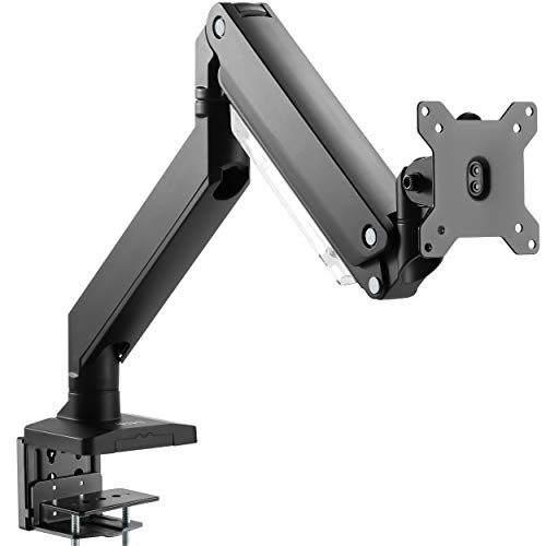 (VIVO Premium Aluminum Heavy Duty Arm, Standard and Widescreen Single Monitor Desk Mount with Instant Pneumatic Spring Height Adjustment   VESA Stand fits 1 Screen up to 32 inches (STAND-V101G1))