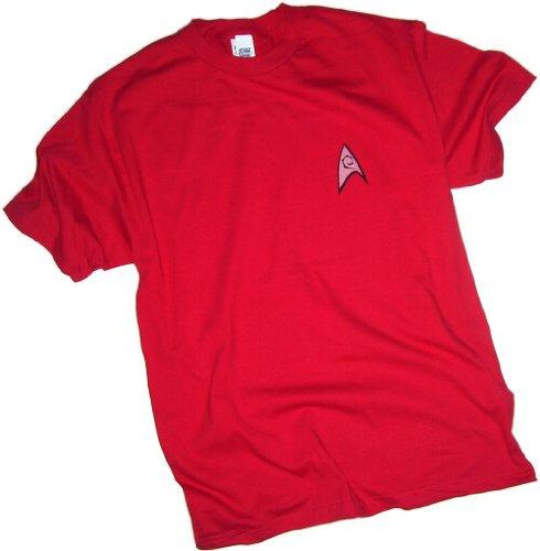 Star Trek Engineering & Security Red Uniform T-Shirt, Medium ()