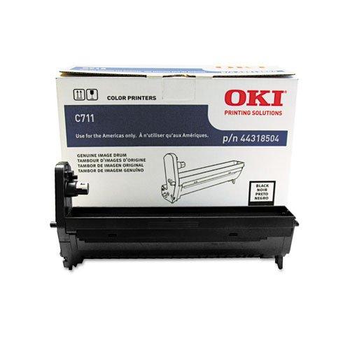 Series Black Image Drum - Oki Data 44318504 Image Drum for C711 Series Printers, 20000 Page Yield, Black
