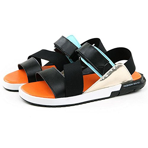 Gomma Arancia Traspirante Sandali Nero Nero Da PU QIDI Indossare Spiaggia Colore Scarpe Pantofole EU39 Di Arancione UK6 Rosso dimensioni q4Ex0dUwd