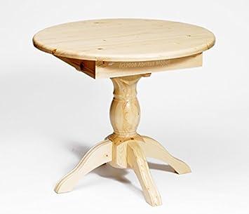 Esstisch ausziehbar rund  Esstisch Tisch ausziehbar rund Ø 80 (+25) Kiefer massiv natur ...