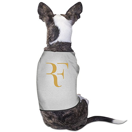GDFEH Roger Federer Logo Daily Pet Dog Clothes T-shirt Coat Pet Puppy Dog Apparel Costumes New Gray (Good Time Girl Costumes)