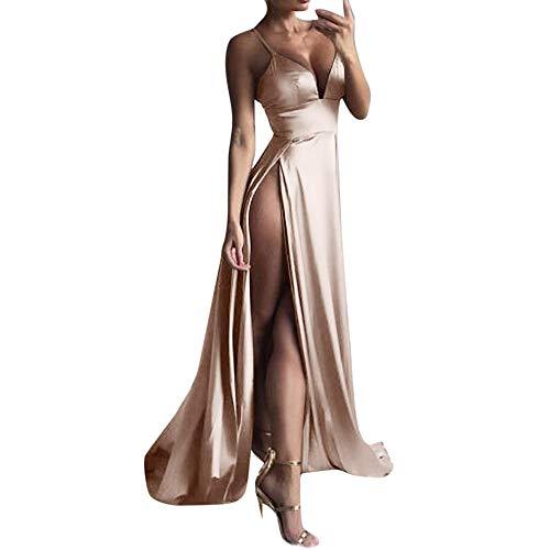 k Long Dress Prom Party Summer Sexy Evening Dress Khaki ()