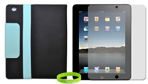 CrazyOnDigital 2-Tone Designer Leather Case Cover with stand for The New iPad