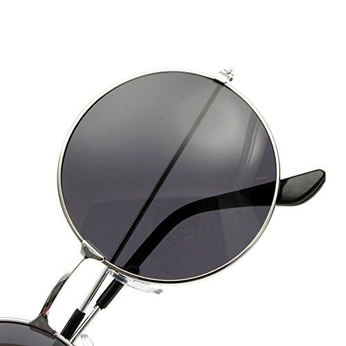 Lunettes Cadre de PC OUTERDO argent R¨¦tro de gris cadre M¨¦tallique UV400 et Soleil lens Lunettes Cadre M¨¦tallique Lentille A4FARq