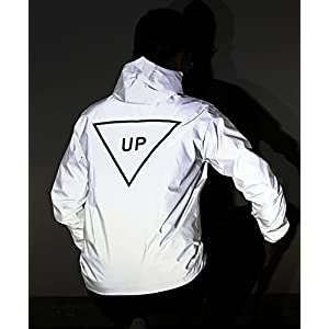 Fangfei® 3m Scotchlite Reflective Coat Hooded Windbreaker Fashion Jacket(UP) (M)