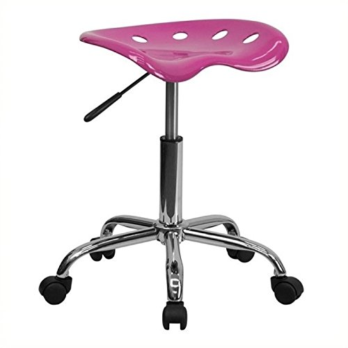 Scranton and Co Adjustable Stool with Chrome Base in Red