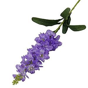 UHBGT Artificial Fake Violet Hyacinth Silk Flower for Home Wedding Garden Decor 1pcs 36inch Purple 49