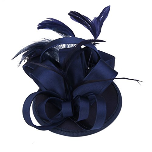 MagiDeal Feather Fascinator Wedding Accessory
