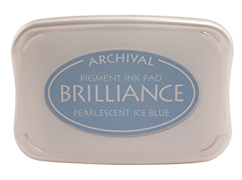 Tsukineko Brilliance Full-Size Pad, Pearlescent Ice (Pearlescent Ice)