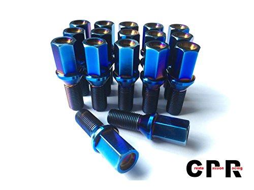 チタン合金六角ボルト 28mm M14 * 1.5ブルー B06XQTFSBD
