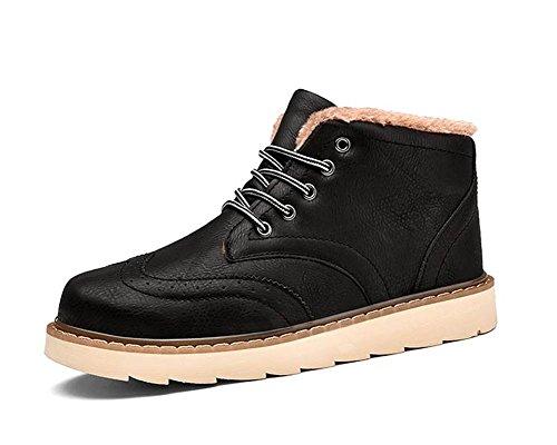 La tendencia de invierno de los hombres de la juventud calienta botas de nieve ocasionales acolchadas , 39 , black