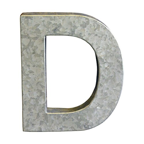 Modelli Creations Alphabet Letter D Wall Decor, Zinc by Modelli Creations