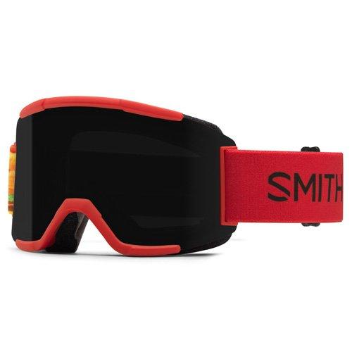 SMITH Squad Masque de Ski Mixte, Chrom Fire Burgers/Blackout