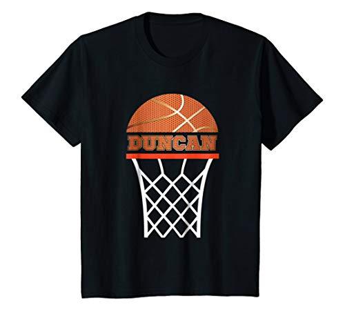 Kids Basketball Apparels Boy Custom Name Duncan, Youth T Shirt -
