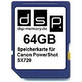 DSP Memory Z-4051557436787 64GB Speicherkarte für Canon PowerShot SX720