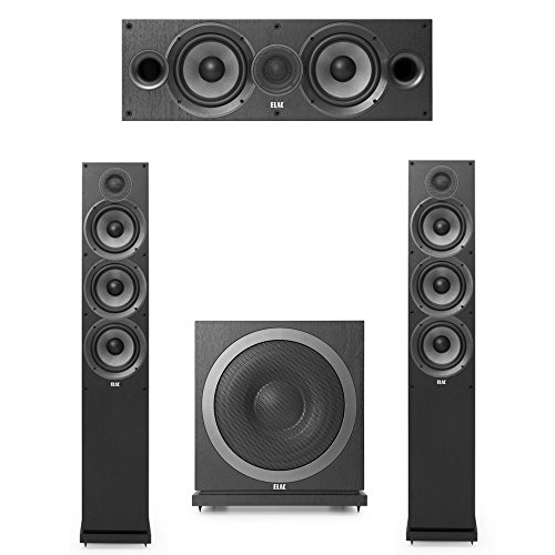 Elac Debut 2.0-3.1 System with 2 F6.2 Floorstanding Speakers, 1 C6.2 Center Speaker, 1 Elac Sub3010 Subwoofer