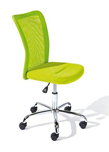 Links 99803154 Schreibtischstuhl für Kinder höhenverstellbar, Metallfuß Mesh PU, 43 x 56 x 88-98 cm, grün