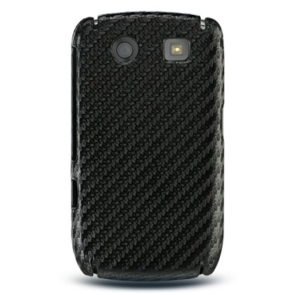 Black Fiber Open Face Case for BlackBerry Curve 8900 - Curve Blackberry T-mobile 8900