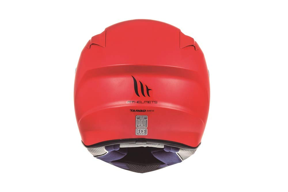 XS MT 53-54 cm Casco Integral Modelo Targo SOLID A1 Rojo Mate
