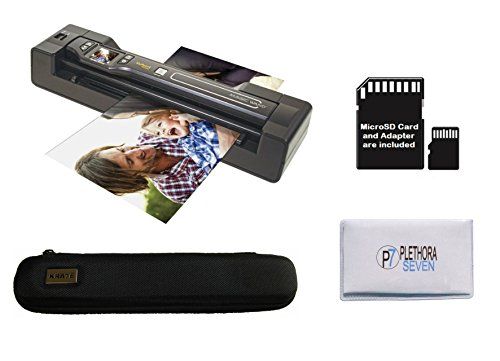 Vupoint ST470 Magic Wand Portable Scanner with Auto-Feed Docking Station + Hard Protective Travel Carrying Case + 8gb MicroSD Card - 1200dpi, PDF/JPEG, 1.5 LCD - for Photo, Document, Receipt (Black)