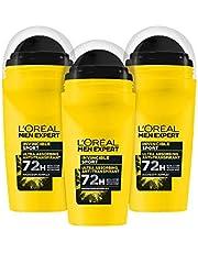 L'Oréal Men Expert Kompaktowy dezodorant dla mężczyzn, długotrwały dezodorant przeciwko potowi z 96 godzinnym działaniem, Invincible Sport, 6 x 50 ml
