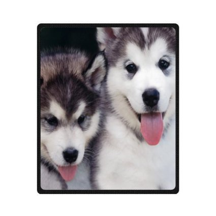 custom cute white black huskie
