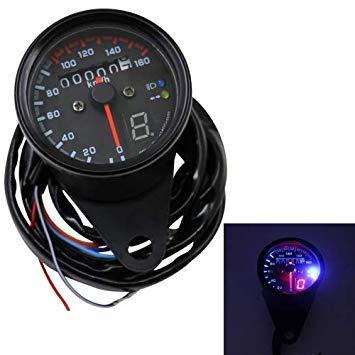 Uniqus 3 in 1 Universal Waterproof Motorcycle LED Backlight Odometer Speedometer Gearmeter, DC 12V