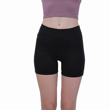 Goodvk Shorts Deportivos de Yoga para Mujeres Shorts ...