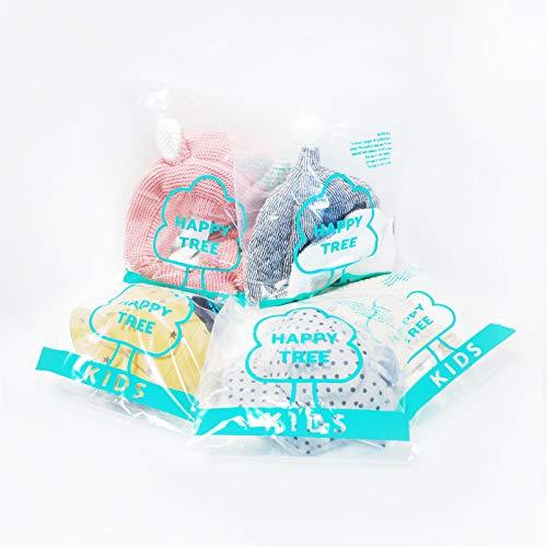 410003b40fc1d Happy Tree 2 Pack Baby Hat Bonnet Soft 100% Combed Cotton Infant Toddler  Beanie Pilot