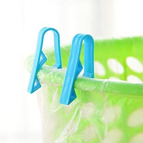 c Trash Can Clips Household Rubbish Waste Basket Trash Bin Garbage Can Basket Waste Bin Dustbin Junk Bag Clip Clamp ()
