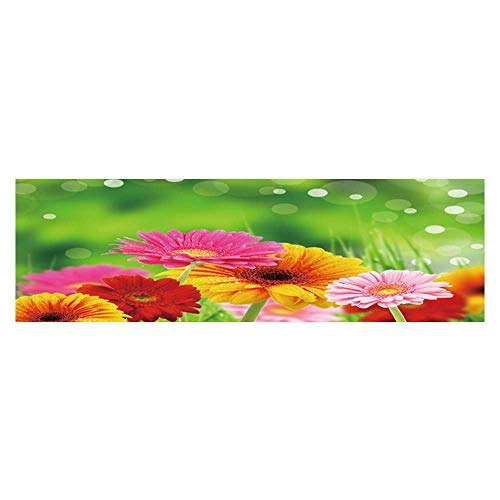 (Dragonhome Background Fish Tank Decorations Colored gerberas Flowers Fish Tank Wallpaper Sticker L29.5 x H21.6)