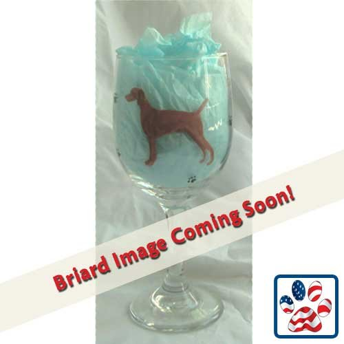 (Showstopper Jewelry Standing Dog Wine Glass Briard)