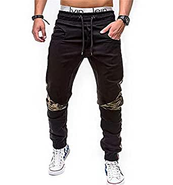 Men's Soccer Track Training Pants Athletic Sweatpants with Pockets for Gym Running Athletic(Black Medium)
